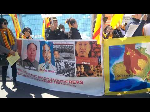 Chinese-Vietnamese-Tibet Protest in Melbourne 30th Sept (Australia)