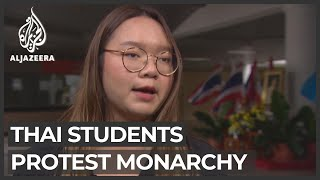 Thai students protest to remove gov't and reform monarchy