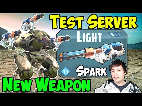 War Robots Test Server Gameplay New Weapon Spark, Exodus & Bulwark WR