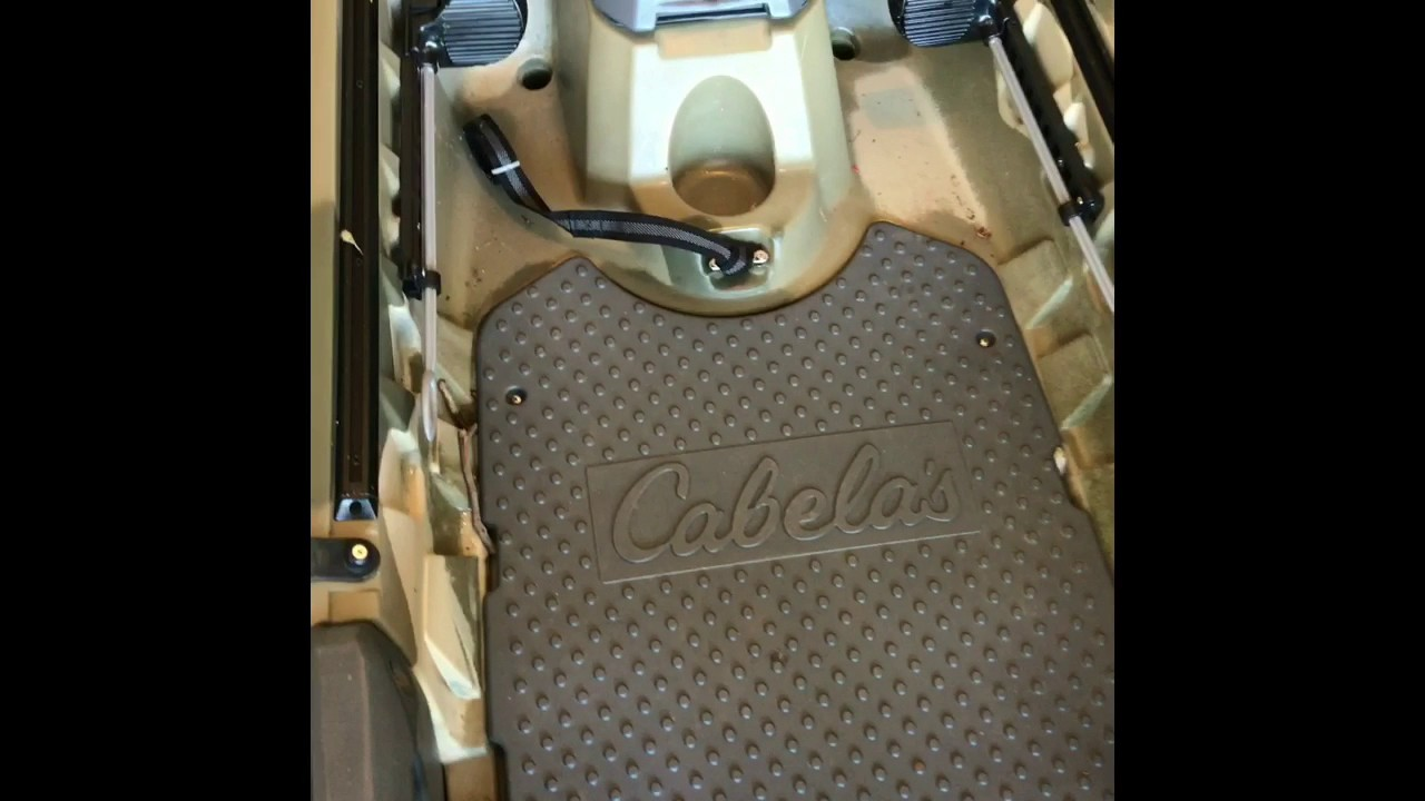 Review of cabelas advanced angler 120 kayak youtube for Cabelas fishing kayak