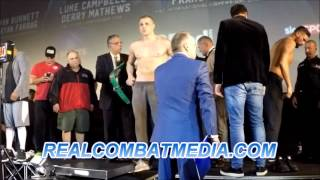 Tony Bellew vs BJ Flores Weigh in Video