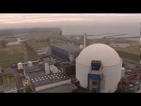 Beeldmateriaal binnen- en buitenzijde kerncentrale Borssele