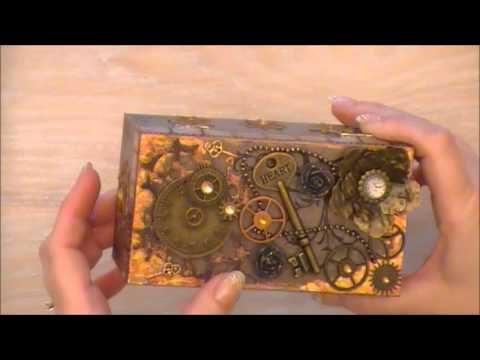Steampunk style altered mini box