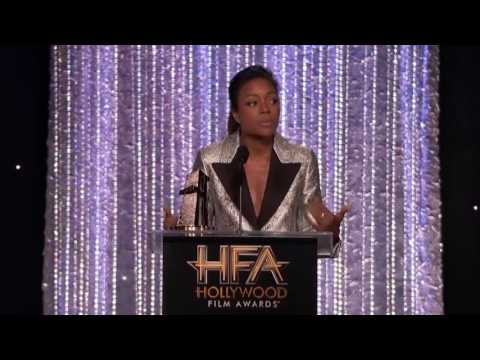 Lenny Kravitz Presents Breakout Performance Award to Naomie Harris - Hollywood Film Awards 2016