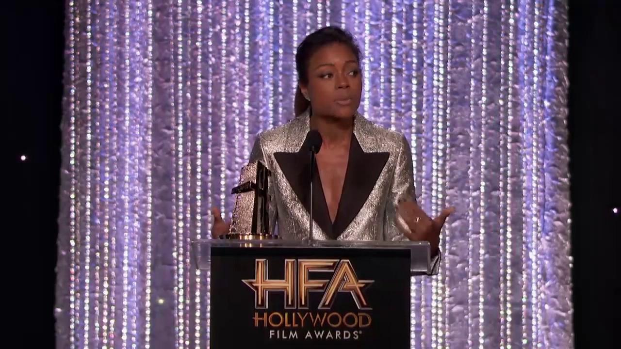 Lenny Kravitz Presents Breakout Performance Award to Naomie Harris - Hollywood Film Awards 2016
