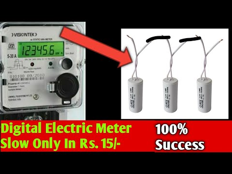 Digital Electric Meter Slow By Using Capacitor Power Saver Possible Or Not Youtube