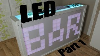 Make Your Own Led Bar - Part 1 (matrix Frame,bar Construction,ws2812b Lighting System)