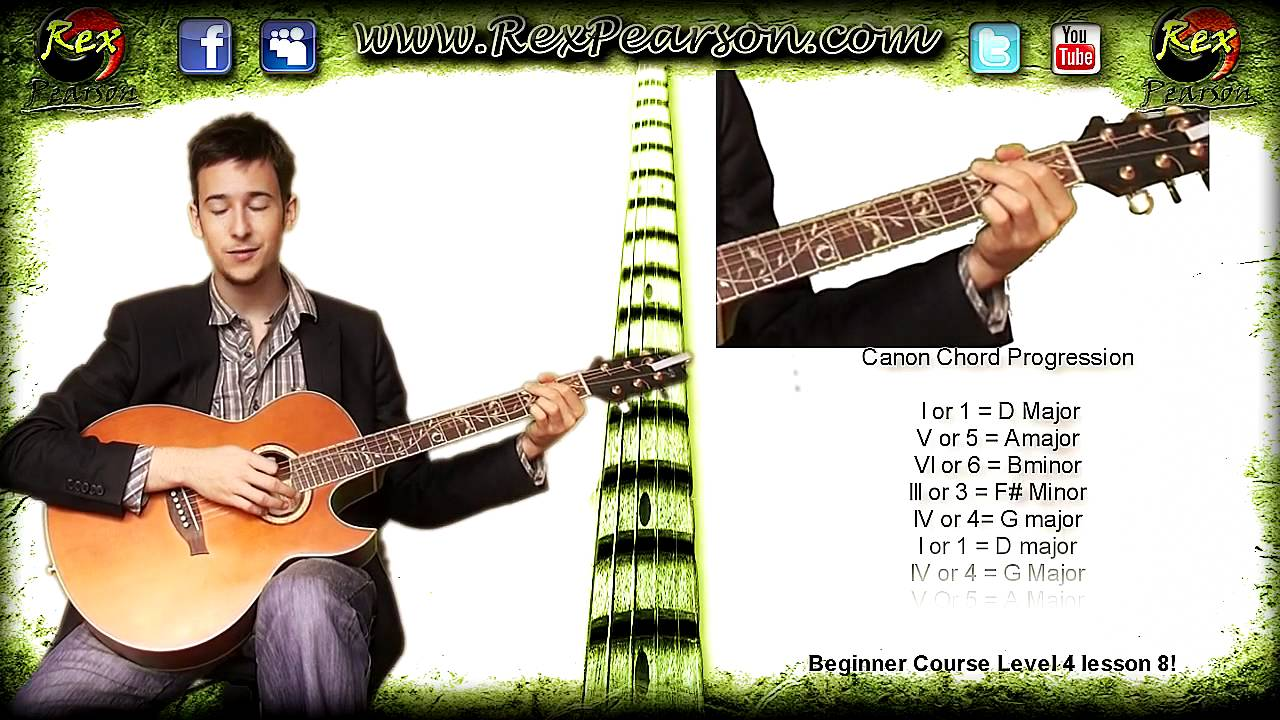 Canon Chords In D Progression Theory For Guitar L4l8 Youtube