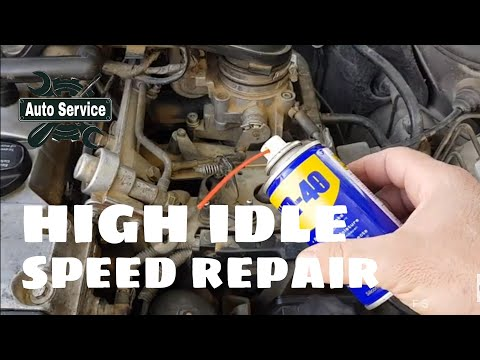 How to Repair High Idle Speed issue Mersedes w210
