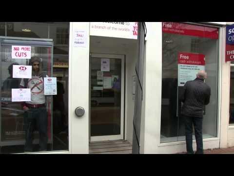 HSBC Ely One-man Protest UK Uncut