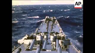 Deck Scenes aboard USS Wisconsin