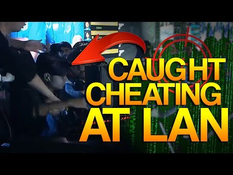 CS:GO - PRO caught CHEATING at LAN!