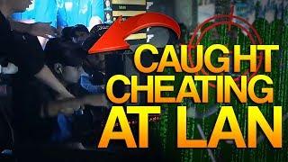 CS:GO - PRO caught CHEATING at LAN!
