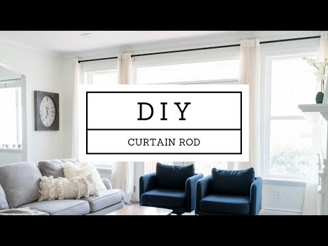 DIY Custom Curtain Rod - Steel Pipe - 15 FEET LONG