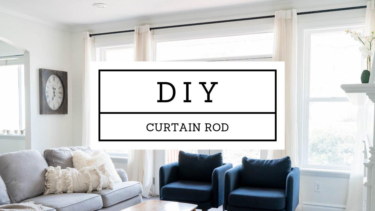 diy custom curtain rod steel pipe 15 feet long