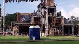 Prambanan latar belakang panggung Indonesia keren ANTV