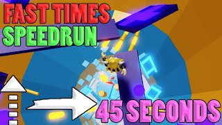 FAST TIMES!! -{45 Seconds}- SPEEDRUN [With Mutators] | Tower of Hell ROBLOX