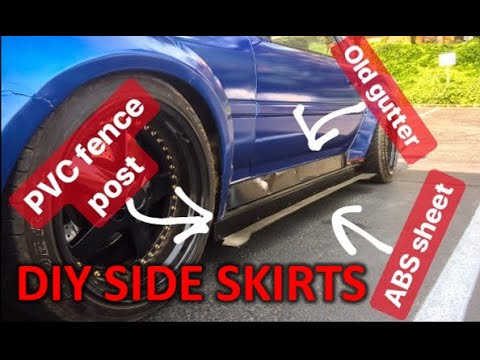 DIY SIDE SKIRTS FROM A GUTTER AND FENCE POST