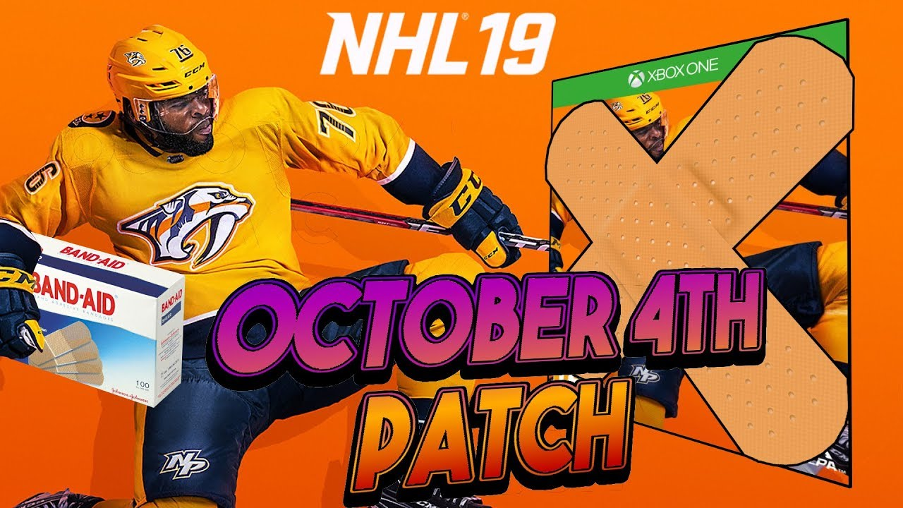 NHL 19 NEW PATCH BREAKS MORE THAN IT FIXES ! (October 4th) - YouTube ed9e444e7