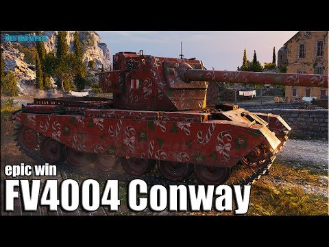 Затащил на Фугасах FV4004 Conway ✅ World Of Tanks лучший бой