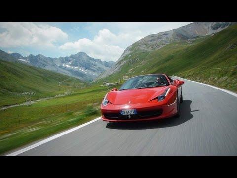 Ferrari 458 Spider on the Stelvio Pass - CAR and DRIVER