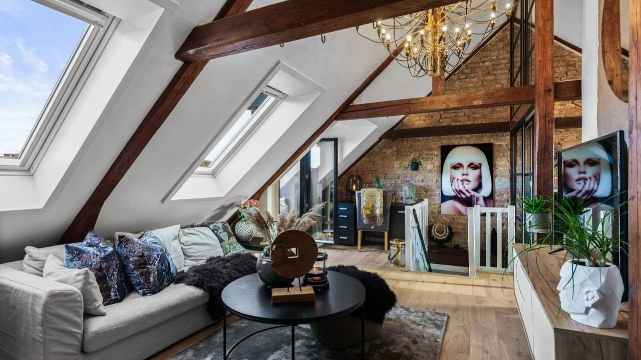 tour cozy attic apartment in Oslo ▸ interior design