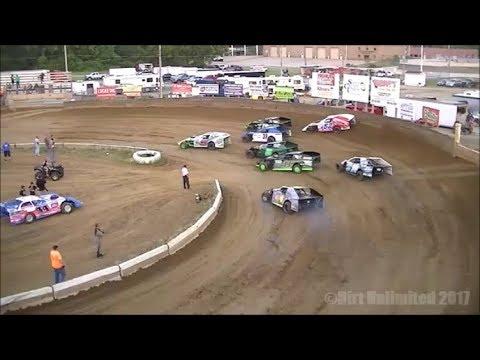 7.28.17   B-Mods Heats & Feature   Belle Clair Speedway