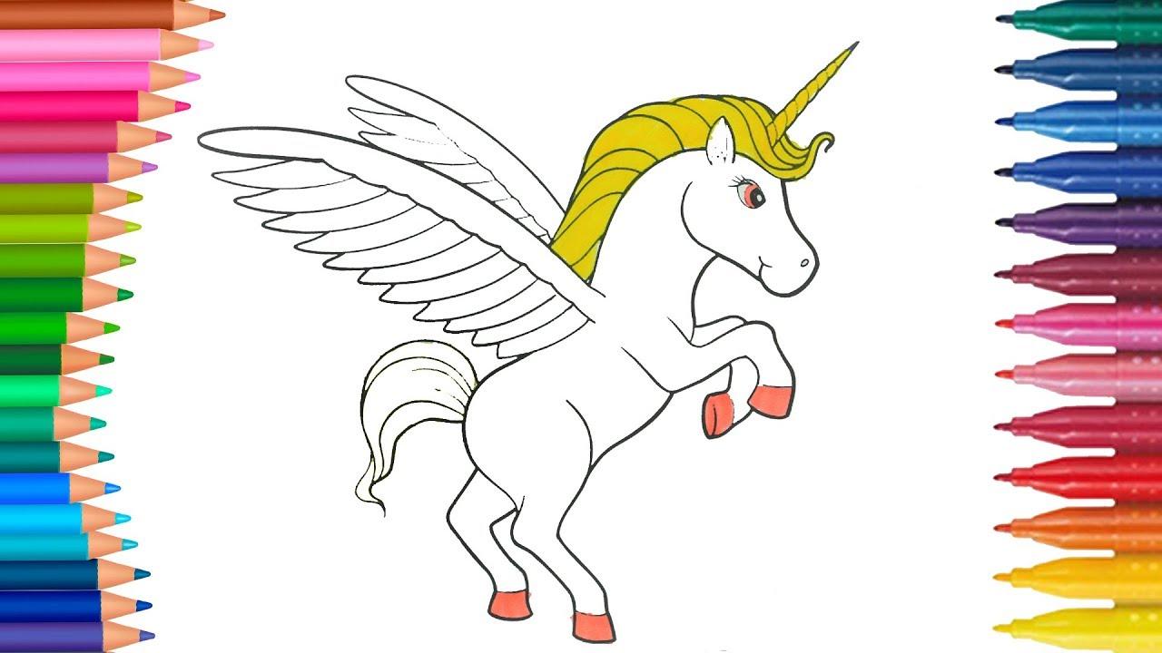 Mia E Io Unicorno Come Disegnare E Colorare Disegni Da