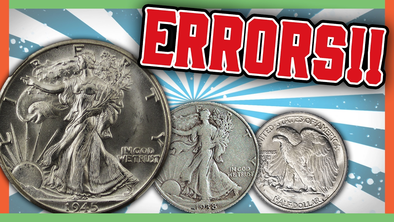 Rare Walking Liberty Half Dollars Worth Money Error