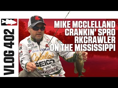 Mike McClelland Fishing The Spro RkCrawler On The Mississipi - TW VLOG#402