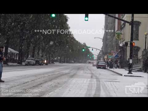 1-3-2018 - Savannah GA - Snow Event in the City