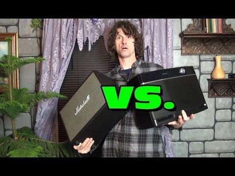 Aiwa Exos 9 vs. Marshall Woburn portable bluetooth speaker