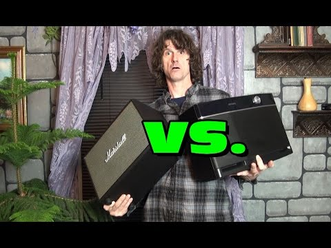 Aiwa Exos 9 vs. Marshall Woburn portable bluetooth speaker