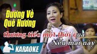 Đường Về Quê Hương Karaoke Thúy Hà (Tone Nữ) | Nhạc Vàng Bolero Karaoke