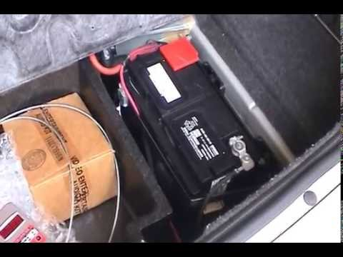 2006 Chrysler 300C SRT8 Battery Replacement and Upgrade - YouTube
