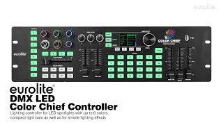 EUROLITE DMX LED Color Chief Controller - Tutorial