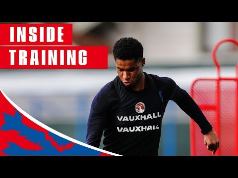 England Train Shooting Ahead of Sweden Quarter Final | Inside Training | World Cup 2018