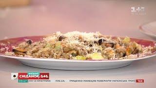 Орзотто з мідіями та салат з картоплею і копченими ребрами - 15 за 150