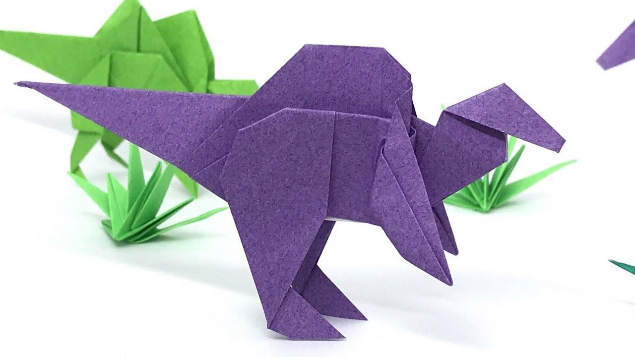 恐竜 折り紙 簡単 子ども