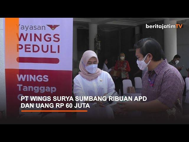 PT WINGS SURYA SUMBANG RIBUAN APD DAN UANG RP 60 JUTA