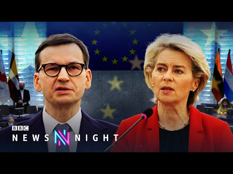 Polish PM accuses EU of blackmail as row over rule of law escalates - BBC Newsnight