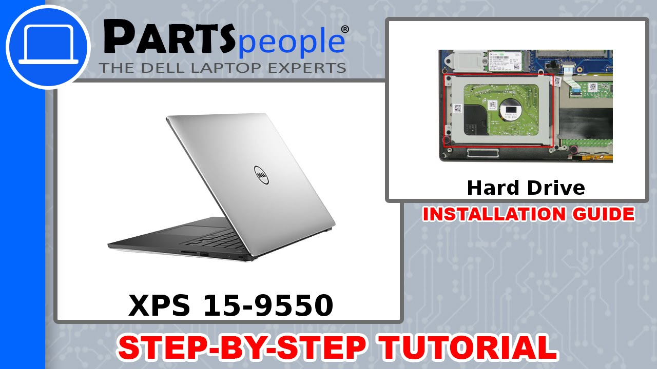 Dell XPS 15-9550 (P56F001) Hard Drive How-To Video Tutorial