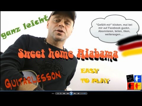 Sweet home alabama-ganz leicht-very easy-Guitarlesson