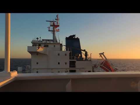 Alpha Zone  Montvideo  STS operation at sea Швартовка  в море к танкеру