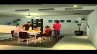 Clipsal, Сценарии дома на английском и черными полосами