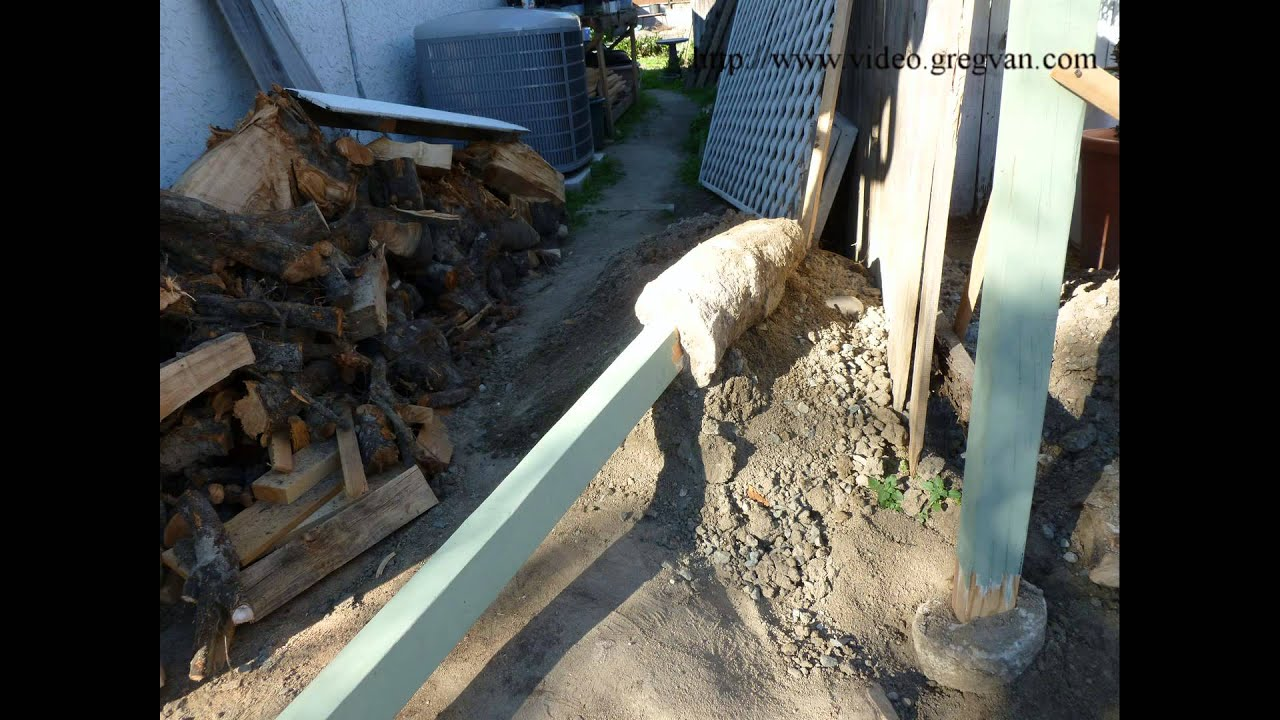 How To Replace Wood Fence Post And Reuse Concrete Post