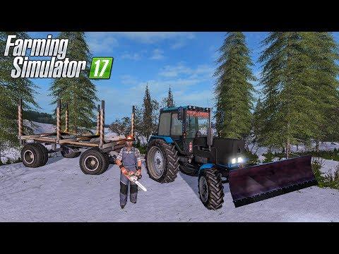 ПОЕХАЛИ В ЛЕС ЗА ЕЛОЧКОЙ К НОВОМУ ГОДУ! FARMING SIMULATOR 17 thumbnail