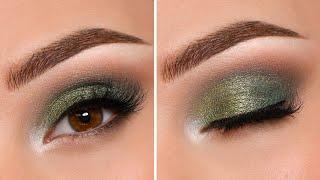QUICK Green Smokey Eye Makeup Tutorial