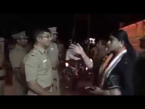 M.L.A vijayadharani Blasting police Must watch