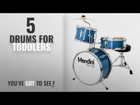 Top10 Drums For Toddlers [2018]: Mendini by Cecilio 13 Inch 3-Piece Kids / Junior Drum Set with